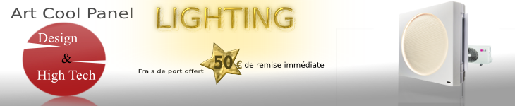 Promotion climatisation Lighting, effet LED garantie, le design LG