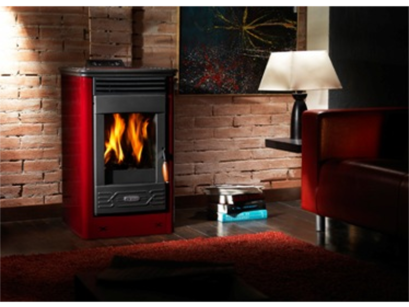 po le granul s bois double combustion dafne 65 bordeaux. Black Bedroom Furniture Sets. Home Design Ideas