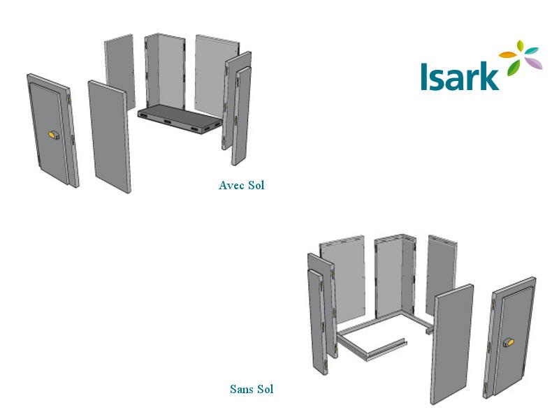 Isark positive ou n gative larg int 2 8 m le caisson frigorifique tout faire - Chambre froide commercial ...
